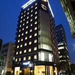 アパホテル<日本橋浜町駅南>:外観(夜)